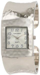 Vernier Women's VNR1832 Silver Tone Hammered Bangle Watch: Watches: Amazon.com