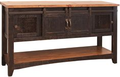 Veracruz   Les Meubles Zip International Entry Furniture, Furniture Direct, Solid Wood Furniture, Rustic Furniture, Black Sofa Table, Rustic Sofa Tables, Homemakers Furniture, Style Rustique, Coffee And End Tables