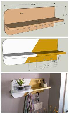 Cómo hacer un estante para recibidor.