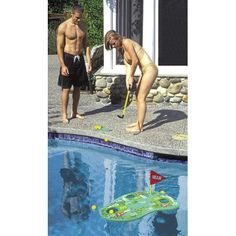 Poolside Challenge Floating Golf Game - Click image twice for more info - See a larger selection of pool games at http://azgiftideas.com/product-category/pool-toys/ - gift ideas, outdoor, summer, water activities, inflatable toys , pool party, water sports.