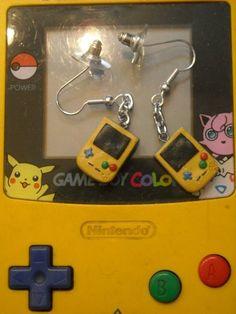 gamer girl gameboy earrings