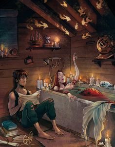 Fantasy,Fantasy art,art,арт,русалка,Gretel Lusky