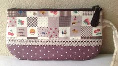 Sewing Small Bag Purse 100% Cotton with Linen Handle. $19.50, via Etsy.