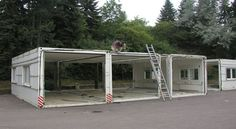 using shipping container as a garage - Google Search