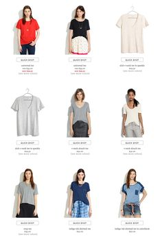 Madewell - mostly model, very occasional hanging product