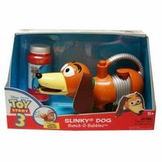 "Toy Story 3 Slinky Dog Bunch-O-Bubbles Case Pack 42 by DDI. $960.00. 100% SATISFACTION GUARANTEED. Please refer to the title for the exact description of the item. All of the products showcased throughout are 100% Original Brand Names. Toy Story 3 Slinky Dog Bunch-O-Bubbles Blower. Blow endless bubbles the the press of a button! Includes 4oz. Bubble Solution. Ages 5 . Requires (2) AA Batteries, included."""" Case Pack 42 Please note: If there is a color/size/type..."