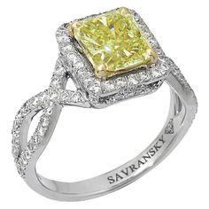 Yellow Diamond Ring by Savransky....... Obviously