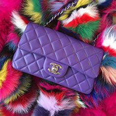 Purple Chanel Flap