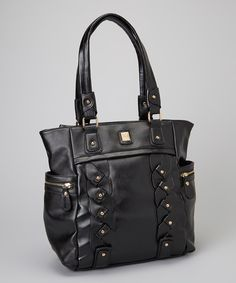 Take a look at this Black Bianca Tote on zulily today!