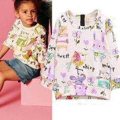 US $5.96 - 6.97 2016 Girls Shirts Long Sleeve Cotton Children T shirt Cartoon Graffiti Kids T-Shirt Girls Clothes Dropshipping Autumn Girl Tops aliexpress.com