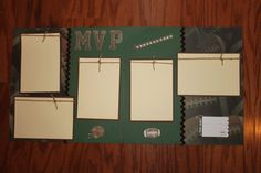 12 x 12 football premade scrapbook layout by creationsbycindyg, $10.00