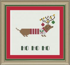 Hey, I found this really awesome Etsy listing at http://www.etsy.com/listing/151031543/ho-ho-ho-dachshund-cute-christmas-cross