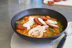 Das Rezept für Linsensuppe mit allen nötigen Zutaten und der einfachsten Zubereitung - gesund kochen mit FIT FOR FUN