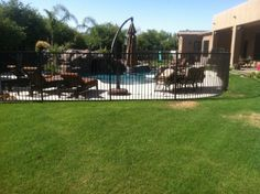 secure your pool with Great Gates quality made iron fencing!