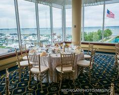 I wanna get married here <3 MacRay Harbor Wedding Reception; overlooking Lake St. Clair. Grand Ballroom