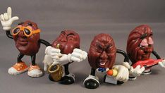 The California Raisins. Man, I tell you what... Them dried up grapes could sing! I had 2 of their albums on cassette. LOVED!!