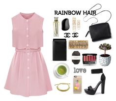 """""""style for my new rainbow hair"""" by itsmytimetoshinecoco ❤ liked on Polyvore featuring Belleza, Tangle Teezer, Pelle, Casetify, Mujjo, Second Nature By Hand, Windsor Smith, Cartier, Chanel y Chen Chen & Kai Williams"""