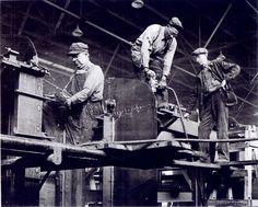 vintage factory workers