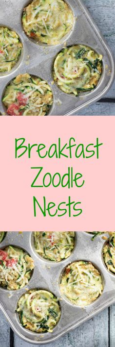Zoodle Breakfast Nests #TheRecipeRedux |Krollskorner.com