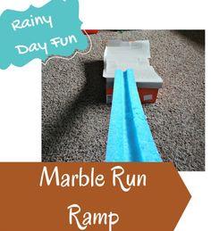 Easy to make DIY ramp sends marbles flying!