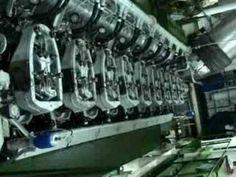 Starting Stork Werkspoor 9TM-410 - YouTube