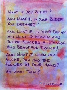 What if you slept?