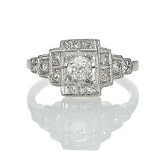 Leigh Jay Nacht Inc. - Art Deco Engagement Ring $1325