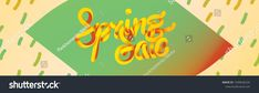 Spring sale. Vector 3D lettering