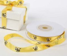 """Amazon.com: Bright Yellow 100% Polyester Fun Whimsical Bumble Bee Satin Ribbon- 20 Yards X 3/8"""" Wide: Arts, Crafts & Sewing"""