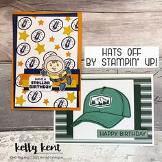 ESAD Blog Hop | 2021 Annual Catalogue – kelly kent Birthday Sentiments, Birthday Cards, Happy Birthday, Forest Color, Space Theme, New Theme, Masculine Cards, Hat Making, Crafts For Teens