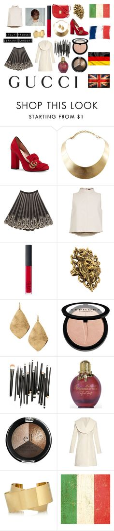 """""""Love For Europe!!"""" by dontkaitlyn on Polyvore featuring Gucci, GUESS, Bebe, TIBI, NARS Cosmetics, Yochi, C. Wonder, Chico's, Sephora Collection and J.W. Anderson"""
