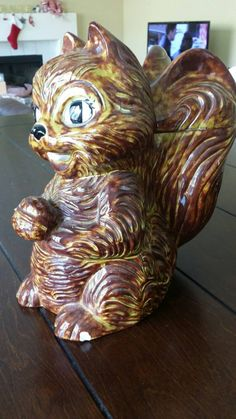 Vintage 1960's arnel's squirrel cookie jar by RusticLoveShop