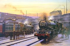 Fine Art Prints of Railway Scenes & Train Portraits - When Steam Was King by Eric Bottomley