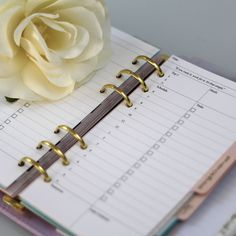 Love this day per page Filofax and planner insert. With space for your schedule, tasks and more, you can finally keep your day in order, even in a personal sized planner!