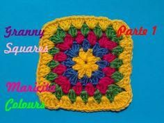 """Crochet Tutorial Fácil Granny Square """"Amarillo"""" (Parte 1) - Häkeln Grann..."""