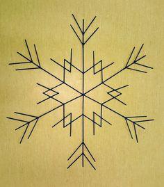zima / śnieżynka / patyczki do lodów / snowflake / winter / snow Compass Tattoo, Snowflakes, Crafting, Symbols, Tattoos, Products, Art, Art Background, Tatuajes