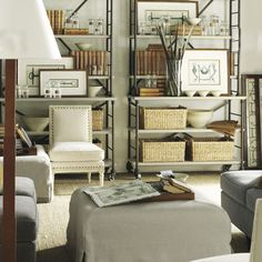 I like the way the designer brought in elements of Industrial with the bookcase.