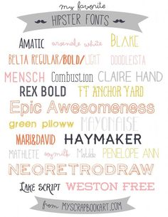 Free Fonts. LOVE these!