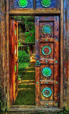 Thailand Cool Doors, Unique Doors, Knobs And Knockers, Door Knobs, Entrance Doors, Doorway, Open Door Policy, When One Door Closes, Unusual Buildings