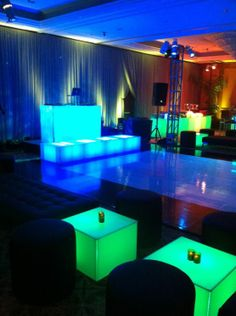Now Offering Light Up Side Tables, High Cocktail Tables, Light Up DJ