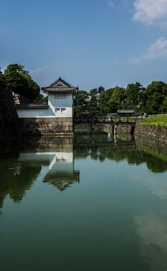 Reflections of Nijo Castle, Kyoto, Japan