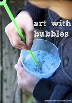 Blowing bubbles is the bread and butter of childhood memories. It's calming and fun. Add some colour to the bubbles and make some beautiful, easy art.