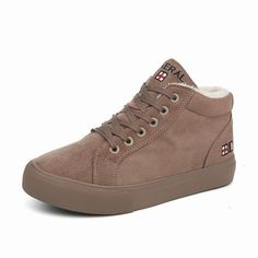M.GENERAL Plush Lining Suede Warm Pure Colour Boots For Women