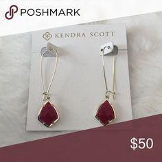 FLASH SALE! Kendra Scott Carrine earrings Beautiful Kendra Scott Maroon Jade Carrine earrings. NWOT.  Price is firm! Kendra Scott Jewelry Earrings