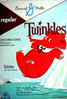 Early 60's Twinkles Cereal Box