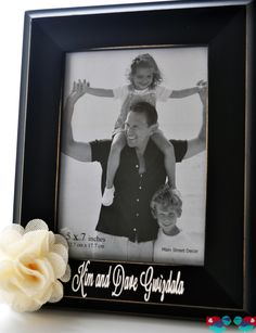 DIY Personalized Picture Frame - This is an inexpensive but custom gift idea. Perfect as a DIY wedding gift! {The Love Nerds} #frametutorial #diyframe #weddinggift #giftidea