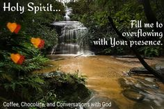 Holy Spirit... Fill me with Your presence.