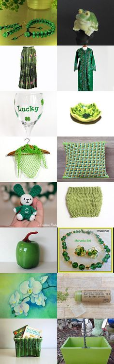 GREEN by styledonna on Etsy--Pinned+with+TreasuryPin.com