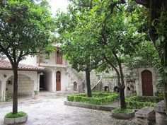 Garden of the Catholic Church of Antakya (Antioch), Hatay province, Turkey. The church is dedicated to the Apostles Peter and Paul.
