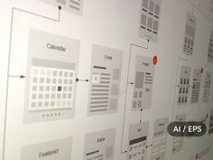 Website Flowcharts and Site Maps AI by UX Kits on @creativemarket